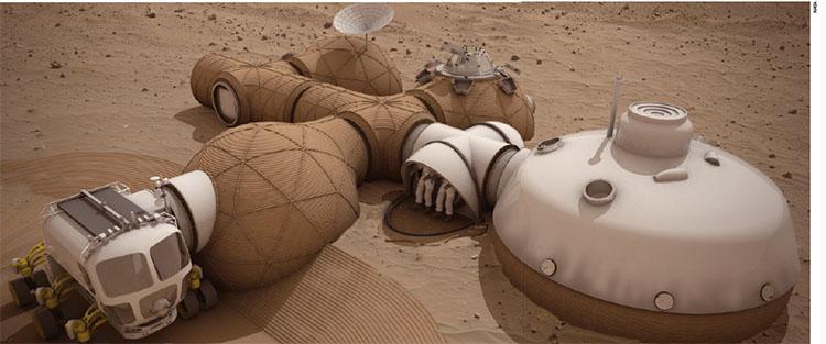 NASA에서 공모한 화성 기지 상상도. 모래폭풍에 대비해 설계됐다.