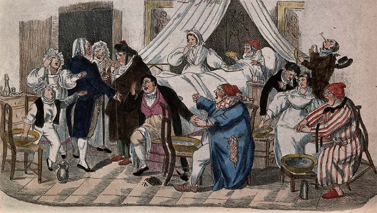 1800년대 유럽에서 인플루엔자는 두려움의 대상이었다. 그림 맨 위의 'La Grippe'는 프랑스어로 '유행성 감기'란 뜻이다.