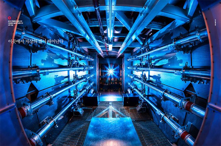 레이저 핵융합의 심장 미국 국립점화시설(NIF) 증폭기의 내부 모습