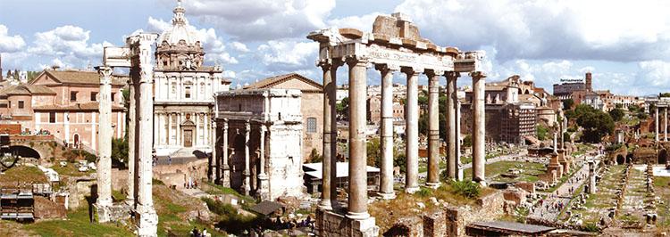 고대 로마의 화려한 문명을 엿볼 수 있는 유적. 아무리 강대한 제국도 영원히 지속되지는 않는다.