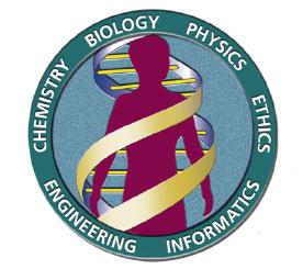 인간게놈프로젝트의 로고(왼쪽). 인간 유전체를 구성하는 모든 염기서열을 해독하는 프로젝트로, 1990년에 시작해 2003년에 완료했다.