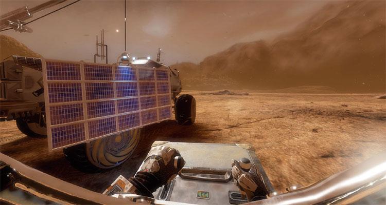 가상현실(VR)로 구현한 화성 여행. 손을 이용해 직접 탐사차를 운전하는 느낌이 생생하다.