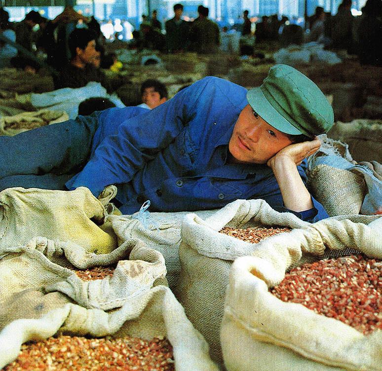 한방약의 고향 중국의 안국시 약재시장