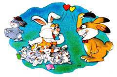 성모 마리아가 토끼를 발로 밟는 이유