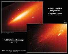 허블 우주망원경 혜성핵 붕괴현상 포착