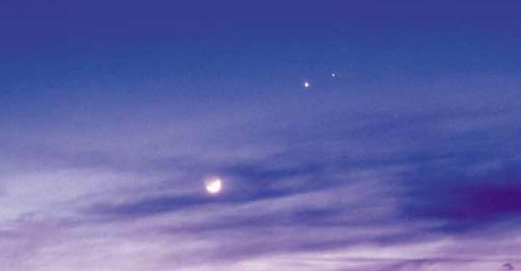 수성, 금성, 토성이 한 자리에