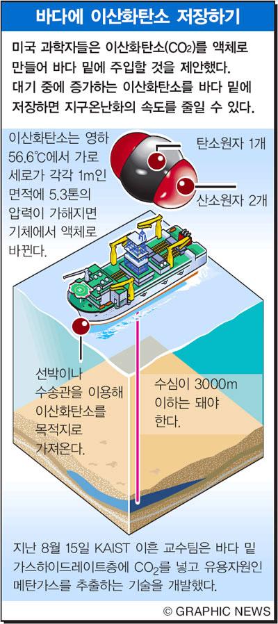 바다에 이산화탄소 저장하기