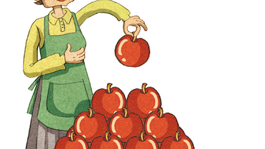 사과를 가장 효율적으로 쌓는 법