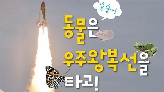 동물은 우주왕복선을 타고!