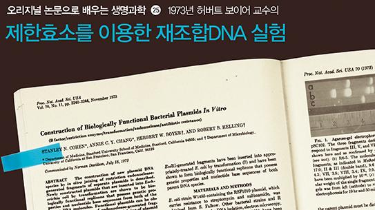 1973년 허버트 보이어 교수의 제한효소를 이용한 재조합DNA 실험