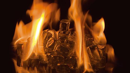 불타는 얼음 정말 불내나
