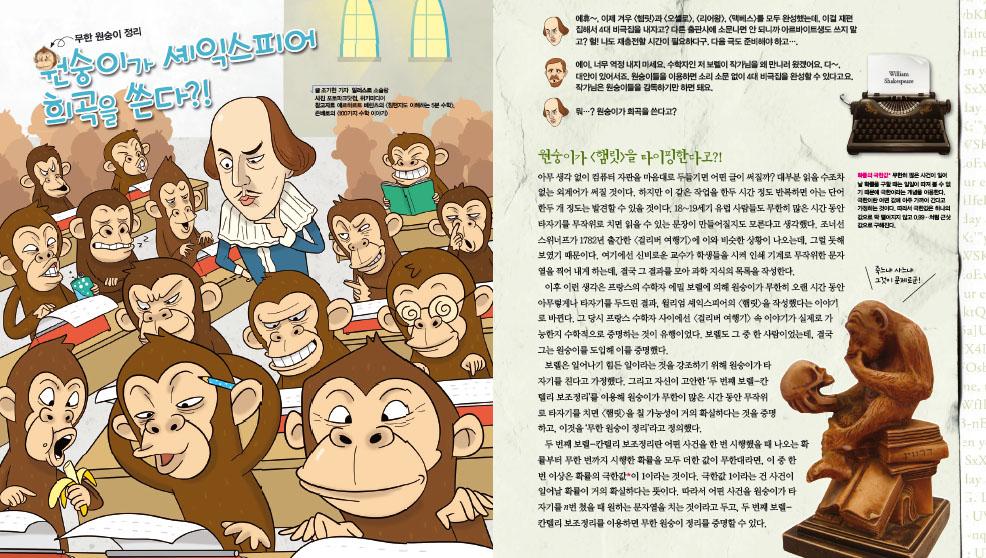 무한 원숭이 정리 원숭이가 셰익스피어 희곡을 쓴다?!