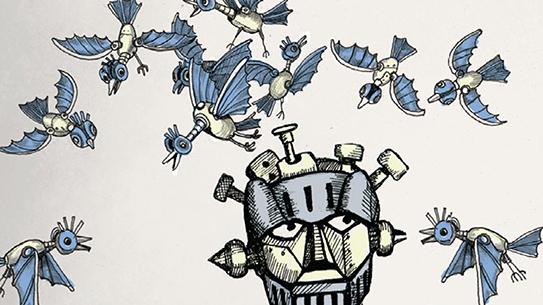 INTRO - 거대로봇과 새떼로봇이 싸운다면?