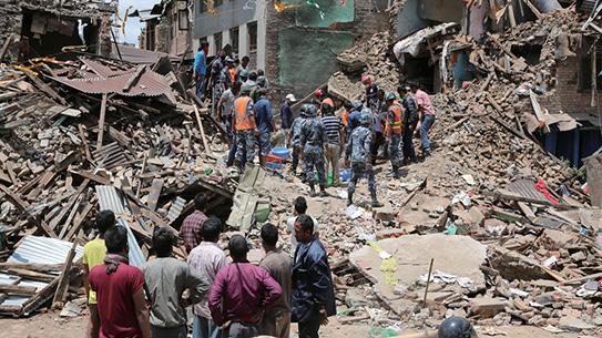 흔들흔들, 네팔 대지진 발생!