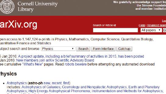 [과학뉴스] 아카이브(arXiv)