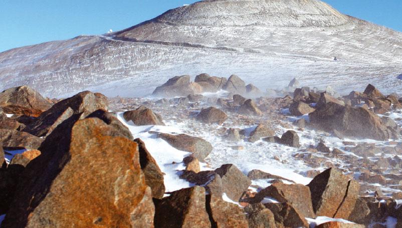 미스터리 1. 모래 없는 얼음 사막