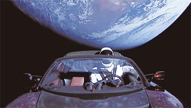 [과학뉴스] 우주에서 드라이브 하는 스타맨!