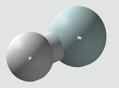 우주 최초의 분자 수소이온화헬륨 확인