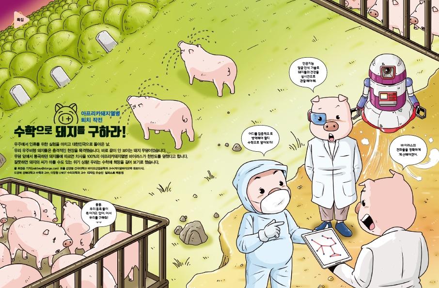아프리카돼지열병 퇴치 작전, 수학으로 돼지를 구하라!