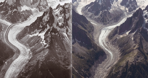 [과학뉴스] 알프스 빙하, 100년간 이만큼 녹았다