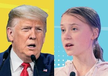 세계경제포럼에서 한판 붙다! 트럼프 VS. 툰베리