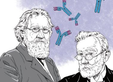 1908년 혈청 치료법을 완성하고 포식 이론을 발표하다
